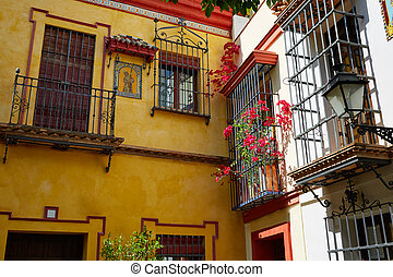 Sevilla old town near calle Agua Vida st Spain - Sevilla old...