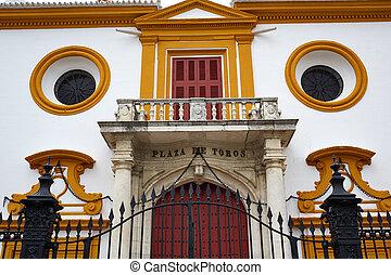 Seville Real Maestranza bullring plaza toros de Sevilla in...