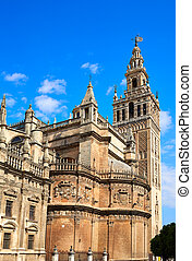 Seville cathedral Giralda tower of Sevilla Spain - Seville...
