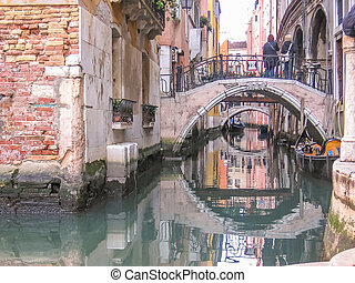 Venice old bridges