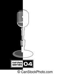 Retro Microphone  - Retro Microphone. Half empty series
