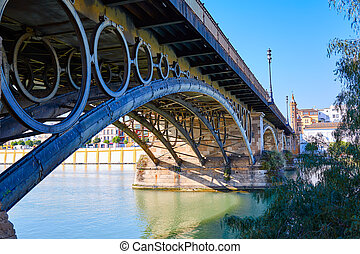 Puente Isabel II bridge in Triana Seville Andalusia - Puente...