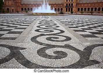 Seville Sevilla Plaza de Espana Andalusia Spain - Seville...
