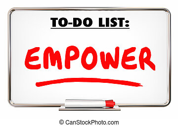 Empower Allow Permit Entrust Writing Word 3d Illustration