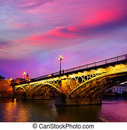 Puente Isabel II bridge Triana Seville Spain - Puente Isabel...