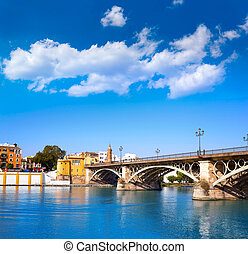 Puente, sevilla,  triana,  isabel,  Puente,  II, andalucía