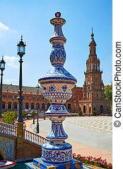 Seville Sevilla Plaza Espana Andalusia Spain - Seville...