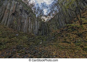 Waterfall Vrkoc near Usti nad Labem town