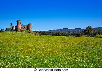 Castillo de las Torres castle by via de la Plata in...