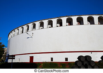 Zafra bullring in Extremadura of Spain by the Via de la...