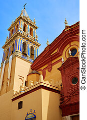 Seville Santa Ana church in Spain at Triana barrio of...