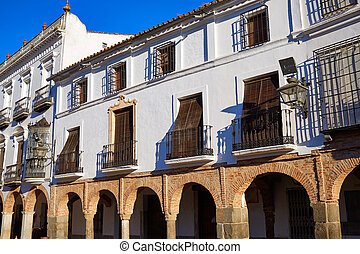 Zafra Plaza Grande in Spain Extremadura by the Via de la...
