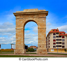 Zamora Puerta del Pescado fish door in Spain by the via de...