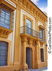Triana barrio of Seville facades Andalusia Spain - Triana...