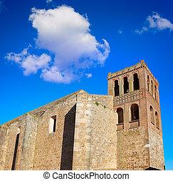 Puebla de Sancho Perez church in Extremadura of Spain by via...