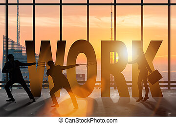 Business concept of hard work