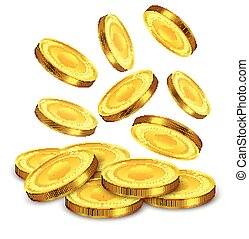 coins falling vector clip art illustrations 1144 coins