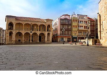 Zamora Plaza Mayor at Spain by Via de la Plata way to...