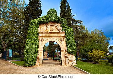 Zamora Cathedral square portico in Spain by Via de la Plata