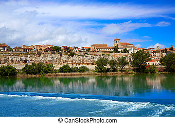 Zamora skyline by Duero river of Spain on the Via de la...