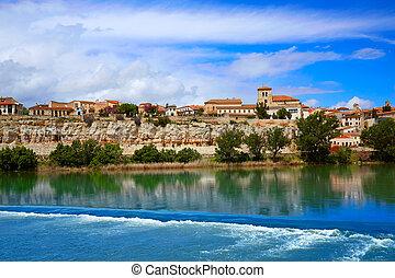Zamora skyline by Duero river of Spain on the Via de la...
