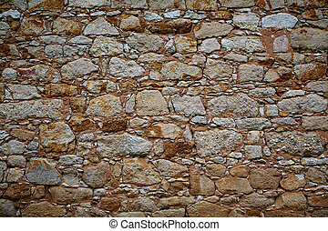 Zamora stone masonry wall detail Spain
