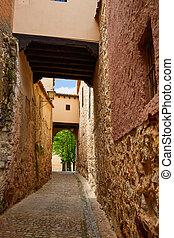 Zamora Calle Troncoso street arch Spain - Zamora Calle...