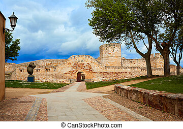 Zamora the castle El Castillo in Spain by Via de la Plata...