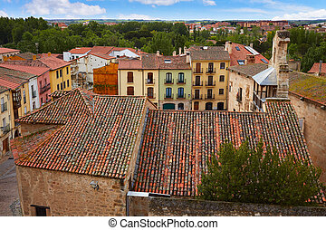 Zamora high angle view roofs Spain - Zamora high angle view...