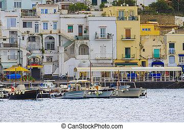 scenic of capri island pier sorrento town mediterranean sea...