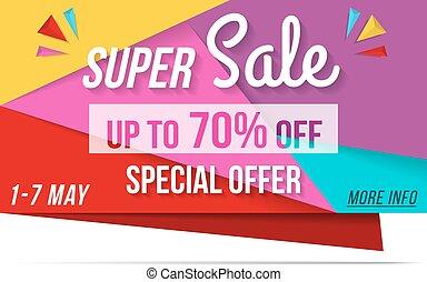 Super Sale Banner - Super sale banner, 70% off, special...