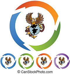 Eagle Anchor - Hockey Player