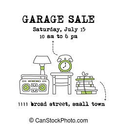 Garage sale banner - Garage sale, household used goods....