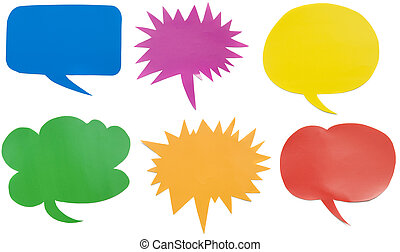 Bubble Speech - Colorful bubble speech made from paper, good...