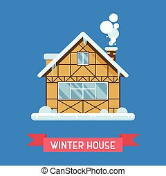 Winter Chalet House - Traditional half-timbered cottage by...