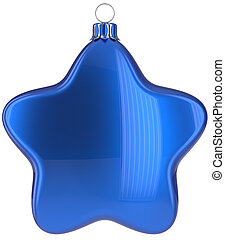Christmas star hanging decoration blue New Year's Eve bauble