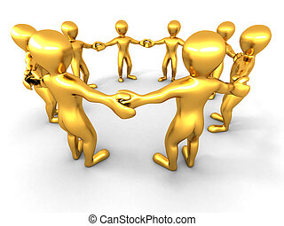 People Friendship 3d