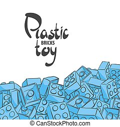 Plastic designer on a white background - Elements of plastic...