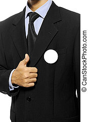 Election Day Concept - Man with black business suit with...
