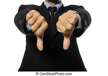 Election Day Concept - Man with business suit give two thumb...