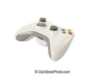 Game Pad - Gamepad for playing video game isolated over...