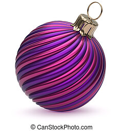 Christmas ball New Year's Eve decoration blue purple striped