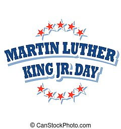 Martin Luther King Jr. Day logo symbol isolated on white...