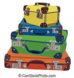 Old luggage Vector Illustration