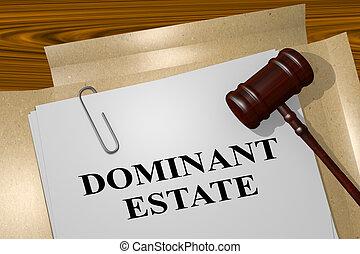 Dominant Estate - legal concept - 3D illustration of...
