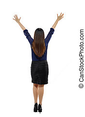 Fullbody Business Woman From Behind - Fullbody business...