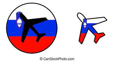 Airplane isolated on white - Slovenia