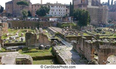 Roman Forum. Panoramo. Rome, Italy. UltraHD (4K)