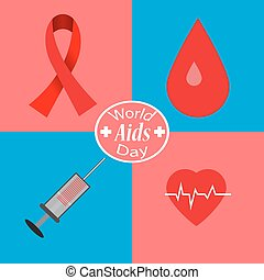 abstract for World First Aid Day - Aids Awareness. World...