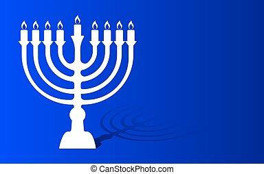 Festival of lights menorah background - Hanukkah Vector...